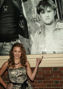 Emily Osment at brother Haley's Theater Performance