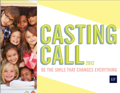 2013 casting call nationwide internet casting for gap babies