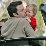 Ben kissing daughter