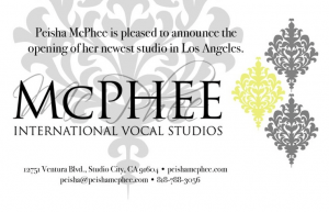 MCPHEE International Vocal Studio
