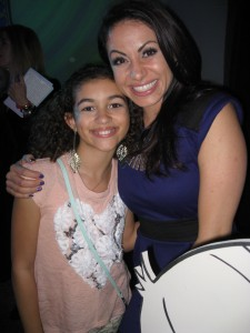 Moni Burkhardt and host Genevieve Goings(Disney's Choo Choo Soul)