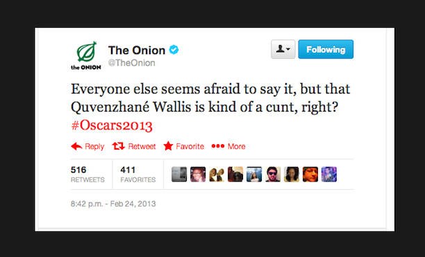 Original ONION Tweet