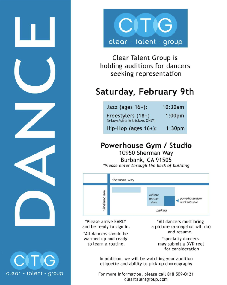 Clear Talent Group Dance Open Call