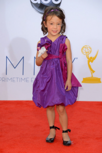Child Star Aubrey Anderson-Emmons started the trend of child stars carrying stuffed animals on the red carpet