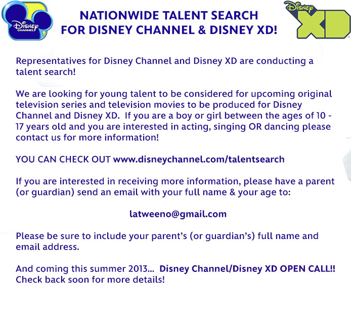 Disney 2013 National Open Call