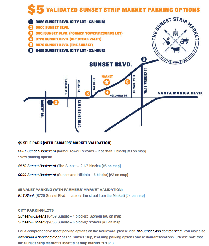 Sunset market map