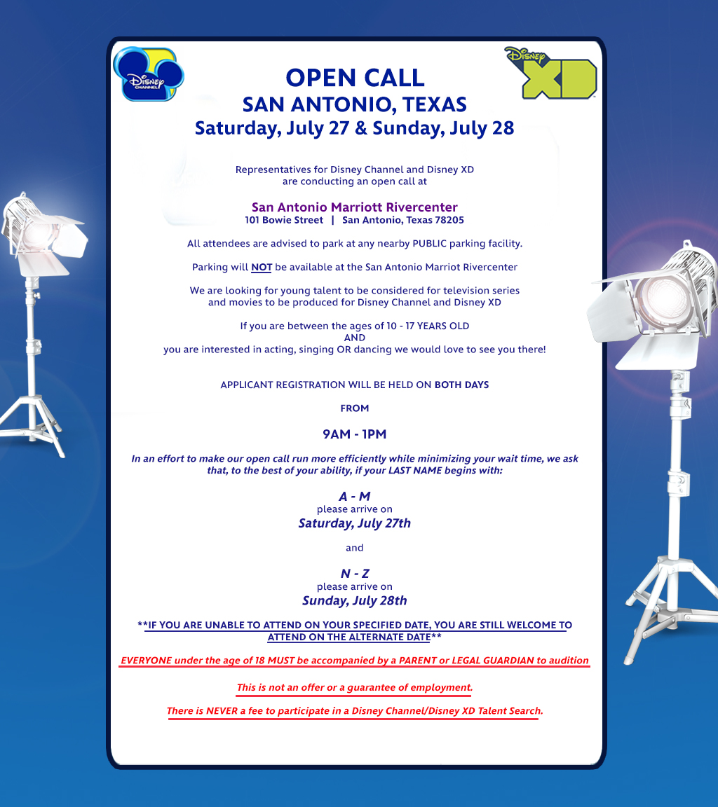 disney open call texas