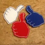 foam thumbs up