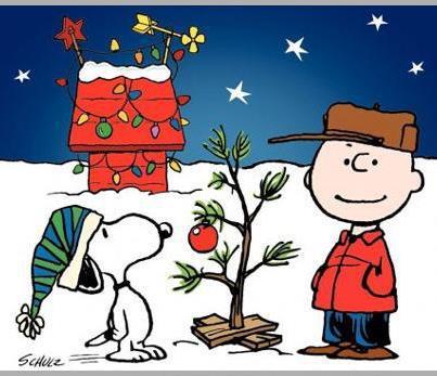 Charlie Brown Christmas ornament on tree