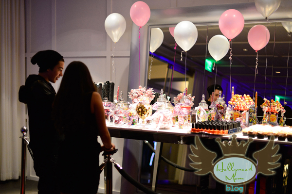 Austin Mahone and Madison Pettis check out the candy bar at Coco Jones Sweet 16!