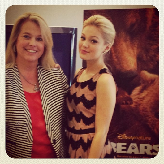 HMB Editor Tracy Bobbitt with Olivia Holt (exclusive interview later this week!)
