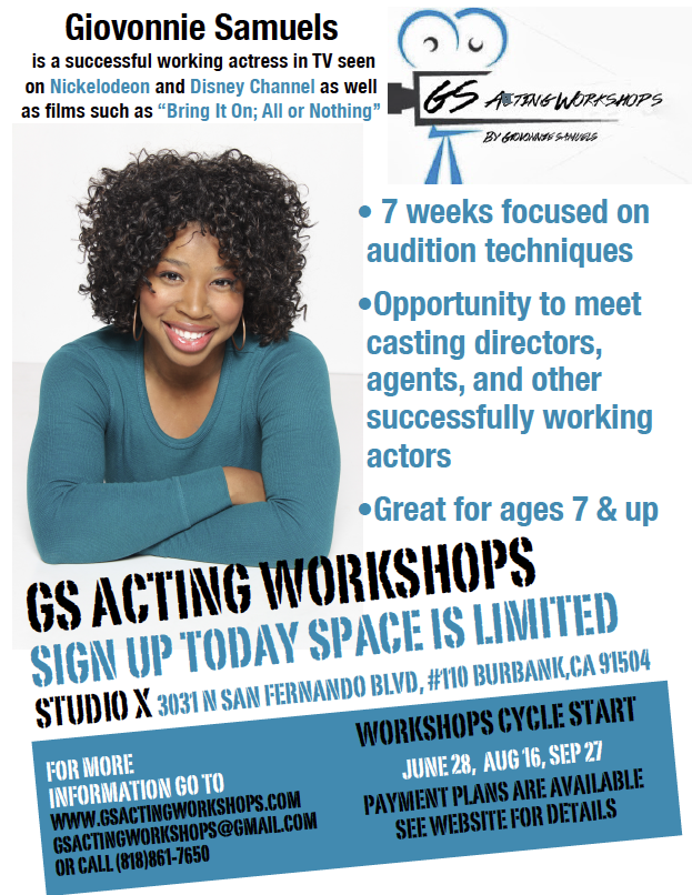 GS Acting Workshop Launches 7 Week Acting Course for Kids