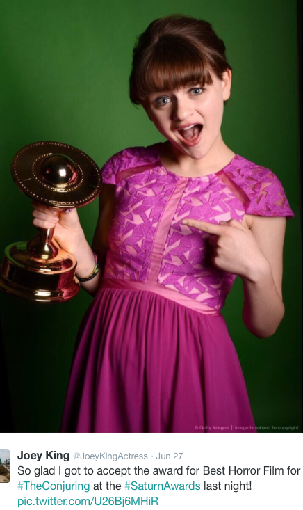 Joey King Accepts Saturn Award