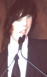 Chandler Riggs Accepting Saturn Award