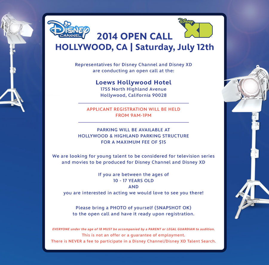 Hollywood Mom Blog Disney Open Casting Call