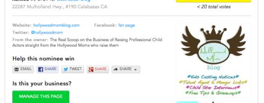 Best Blog Los Angeles, Hollywood Mom Blog