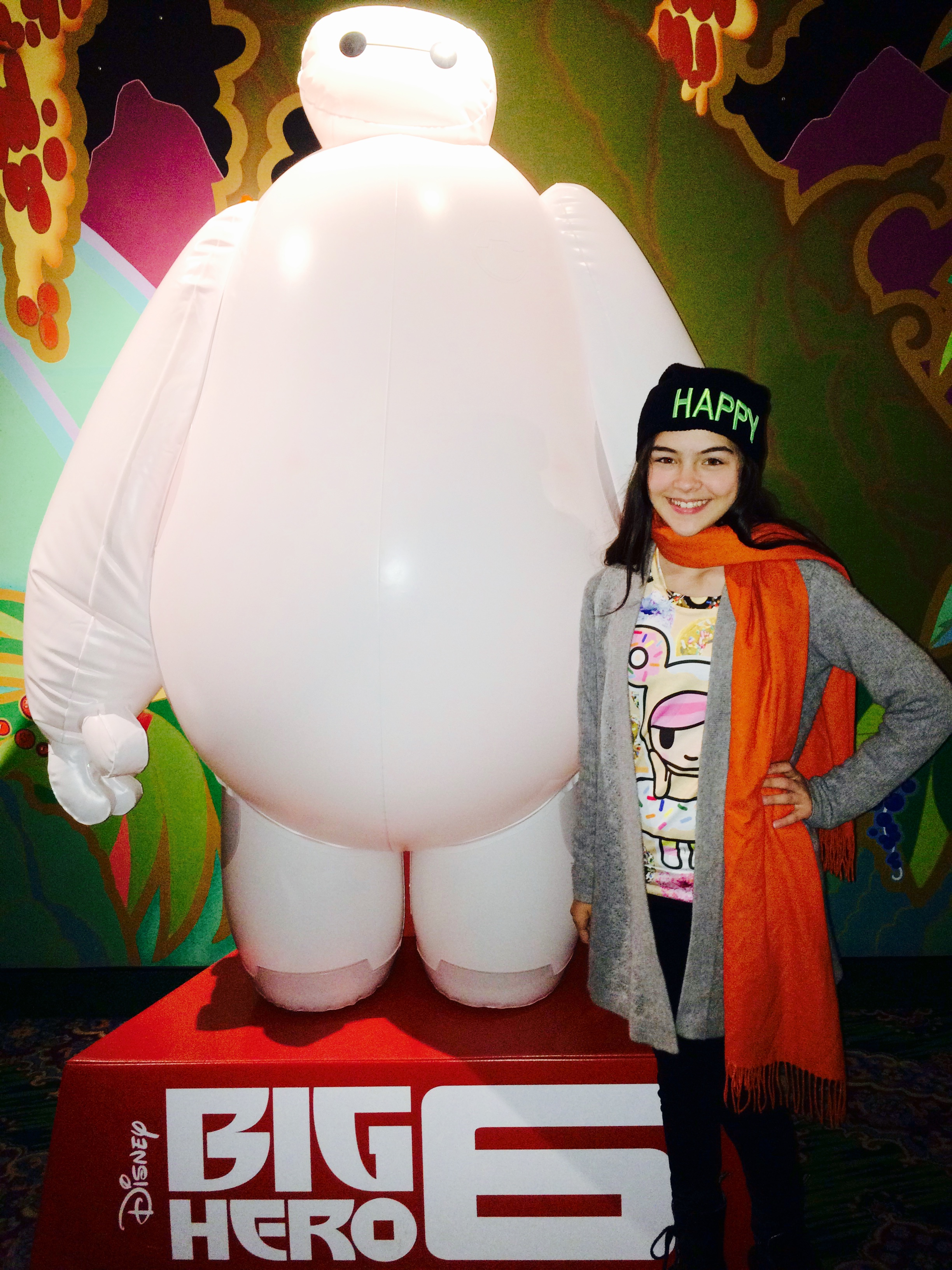 BayMax and Merit Leighton at Big Hero 6