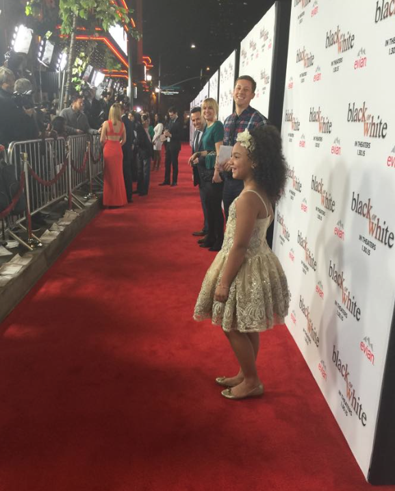 Jillian Estell on the red carpet