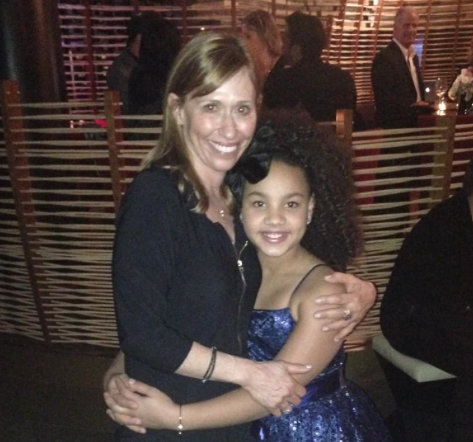 """Black or White"" Casting Director Sharon Bialy and Child Star Jillian Estell"