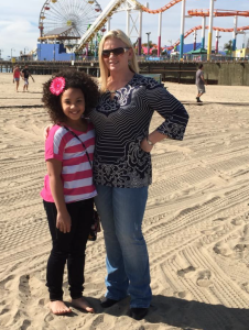 child Actor Jillian Estell and mom Kristen Estell in Santa Monica California