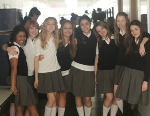 Rising stars in the indy short THE CLASSROOM: Anjelika Washington, Cam Caddell, Ruby Neu, Jordan Bobbitt, Camila Conte, Bailey Stillwell, Elise Metcalf, Sedona James.