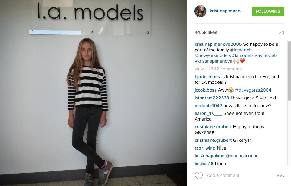 L.A. Models Signs Kristina Pimenova 10