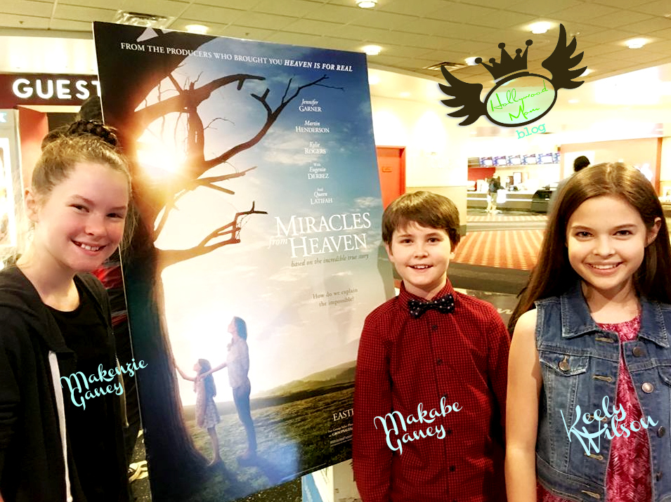 HMB Child Stars Attend VIP Screening MIRACLES FROM HEAVEN