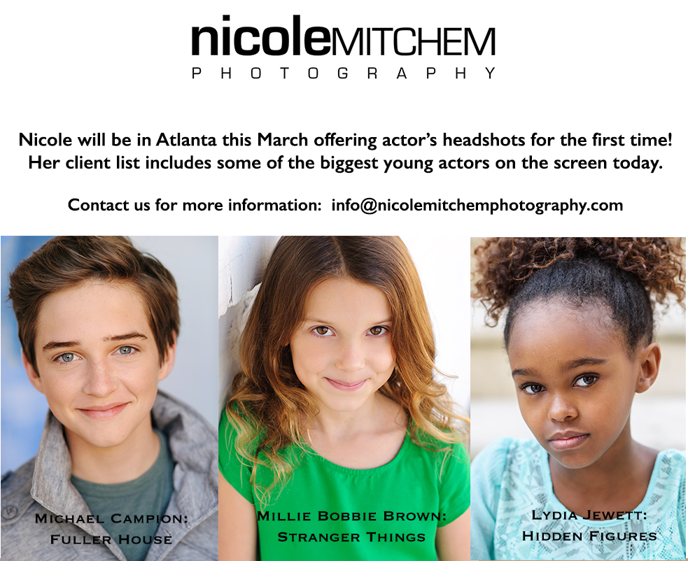 Hollywood Mom Blog: Nicole Mitchem on location in Atlanta