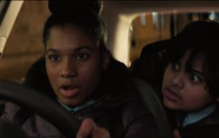 Driving scene with Rhianna Dorris