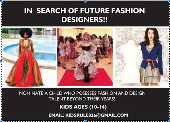 CASTING CALL: TALENTED KID DESIGNERS
