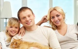 caucasian family